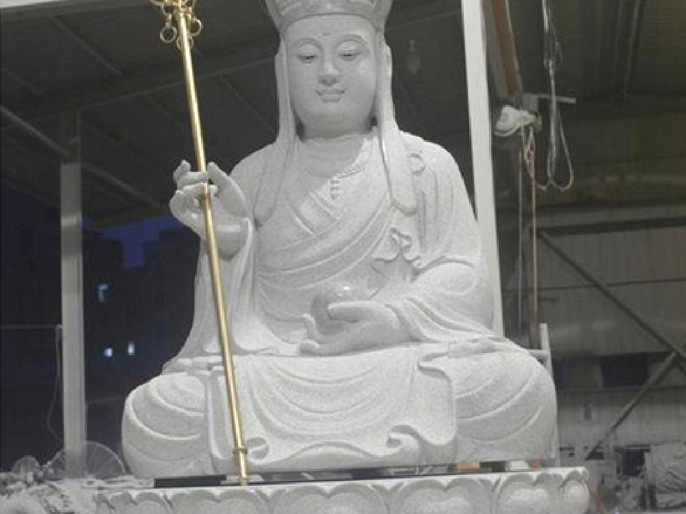 XFGS336-地藏菩萨石雕坐像设计