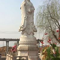 XFGS365-观音菩萨石雕站像厂家