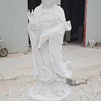 XFGS371-观音菩萨石雕站像制作