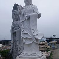 XFGS375-观音菩萨石雕站像制作厂家