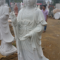 XFGS395-观音菩萨石雕站像加工