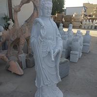 XFGS421-观音菩萨石雕站像哪里有