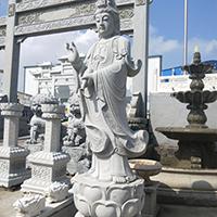 XFGS422-观音菩萨石雕站像多少钱
