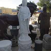 XFGS423-观音菩萨石雕站像制作厂家