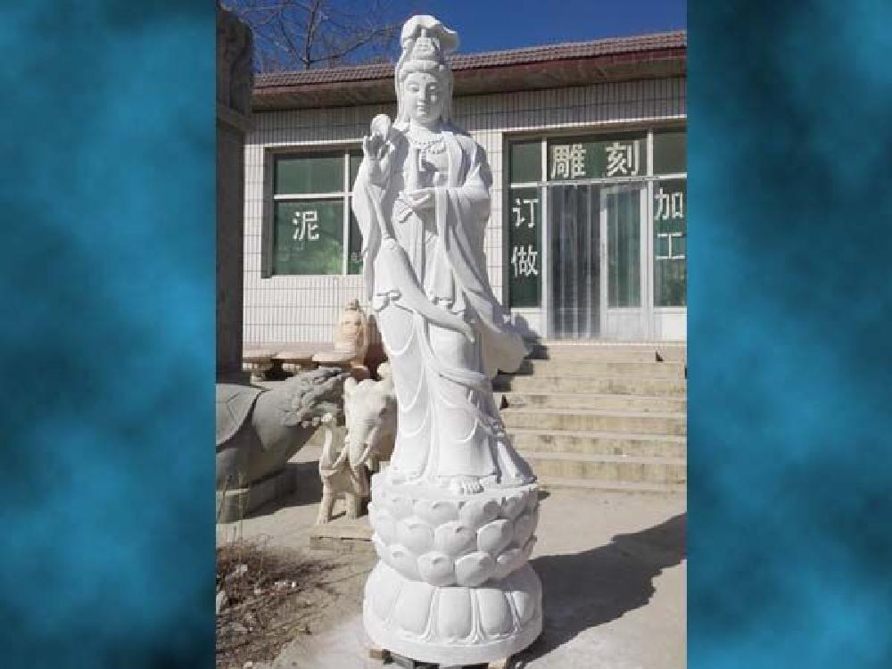 XFGS427-观音菩萨石雕站像加工
