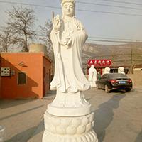 XFGS429-观音菩萨石雕站像厂家