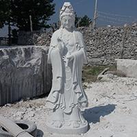 XFGS432-观音菩萨石雕站像设计