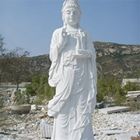 XFGS434-观音菩萨石雕站像价格