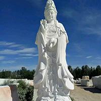 XFGS437-观音菩萨石雕站像哪里有