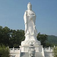 XFGS439-观音菩萨石雕站像制作厂家