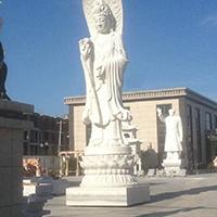 XFGS440-观音菩萨石雕站像生产厂家