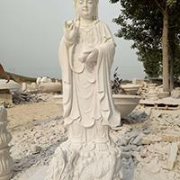 XFGS458-观音菩萨石雕站像供应