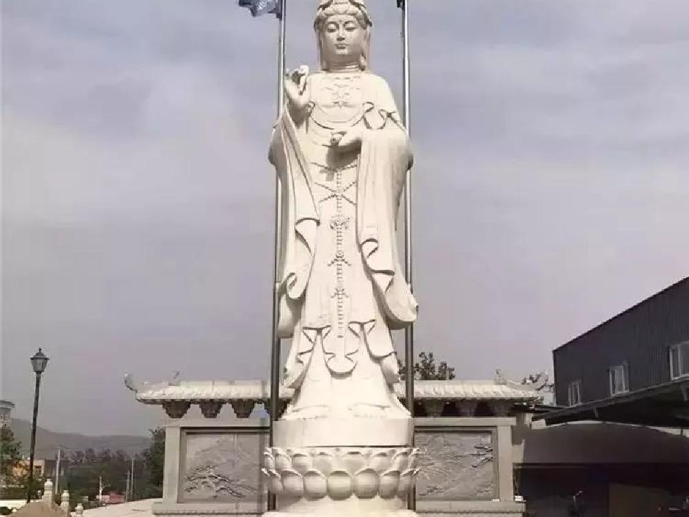 XFGS480-观音菩萨石雕站像设计
