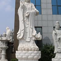 XFGS490-观音菩萨石雕站像供应