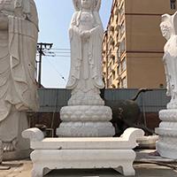 XFGS493-观音菩萨石雕站像厂家