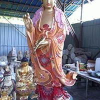 XFGS539-观音菩萨站像铜雕塑加工