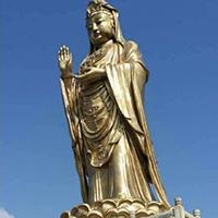 XFGS544-观音菩萨站像铜雕塑设计
