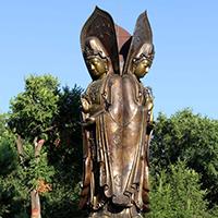 XFGS545-观音菩萨站像铜雕塑报价