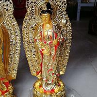 XFGS547-观音菩萨站像铜雕塑制作