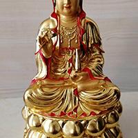XFGS560-观音坐像铜雕塑设计