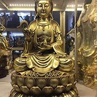 XFGS562-观音坐像铜雕塑价格