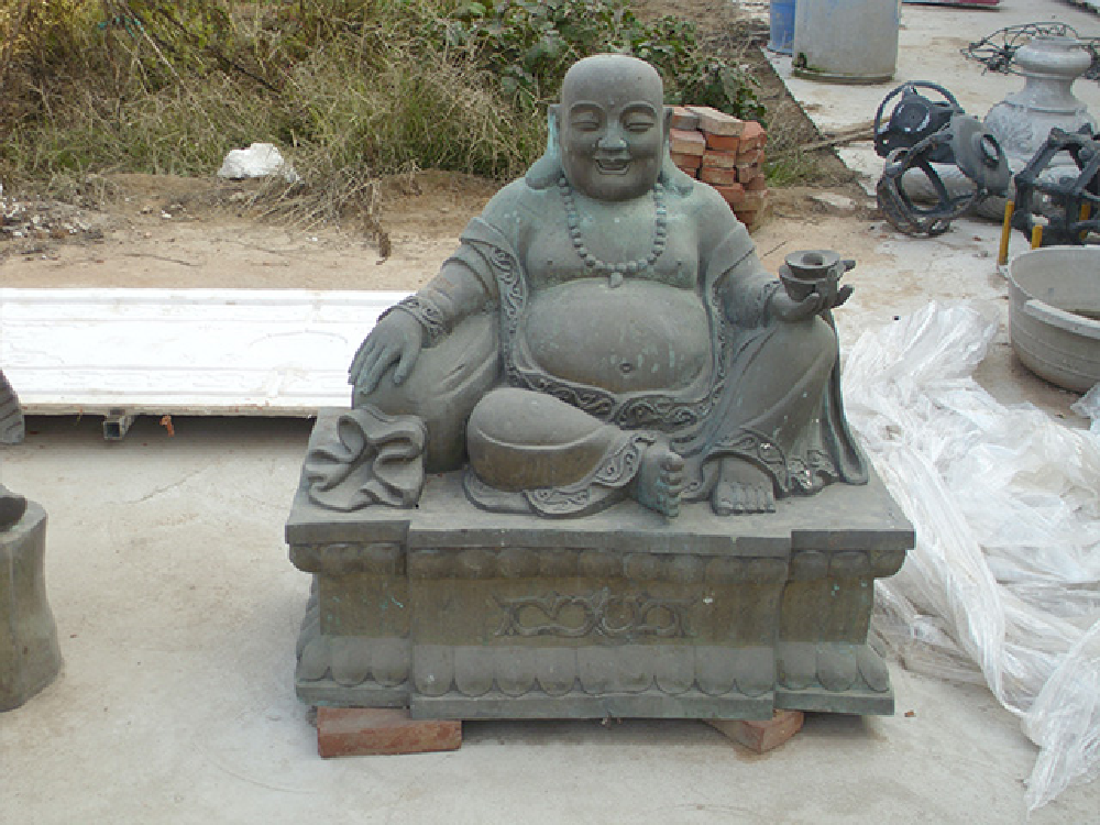 XFGS615-弥勒佛石雕坐像制作厂家