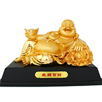 XFGS679-弥勒菩萨铜雕塑像制作厂家