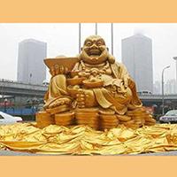 XFGS680-弥勒菩萨铜雕塑像生产厂家