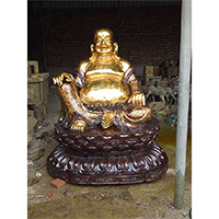 XFGS695-弥勒菩萨铜雕塑像制作厂家