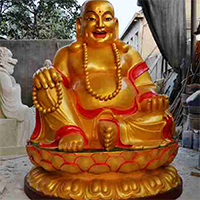 XFGS704-弥勒菩萨铜雕塑像设计