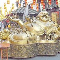 XFGS750-弥勒菩萨铜雕塑像厂
