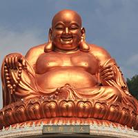 XFGS763-弥勒菩萨铜雕塑像加工