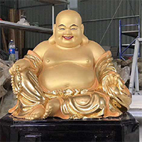 XFGS775-弥勒菩萨铜雕塑像制作厂家