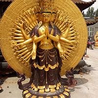 XFGS787-菩萨铜雕塑像_铜雕观音像制作