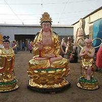 XFGS803-菩萨铜雕塑像_铜雕观音像制作