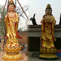 XFGS808-菩萨铜雕塑像_铜雕观音像生产厂家