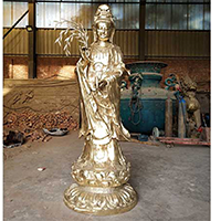 XFGS811-菩萨铜雕塑像_铜雕观音像加工