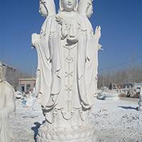 XFGS911-三面观音石雕塑像定制