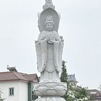XFGS915-三面观音石雕塑像制作