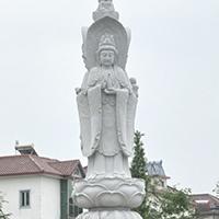 XFGS916-三面观音石雕塑像哪家好