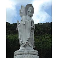 XFGS918-三面观音石雕塑像多少钱