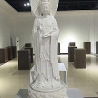 XFGS919-三面观音石雕塑像制作厂家