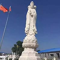 XFGS921-汉白玉三面观音石雕塑像