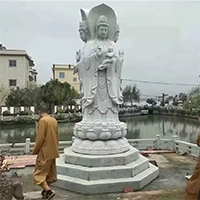 XFGS923-三面观音石雕塑像加工