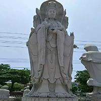 XFGS924-三面观音石雕塑像加工厂