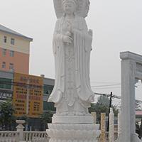 XFGS939-三面观音石雕塑像加工
