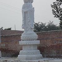 XFGS959-三面观音石雕塑像定制