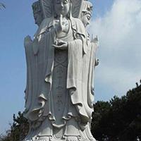XFGS961-三面观音石雕塑像报价