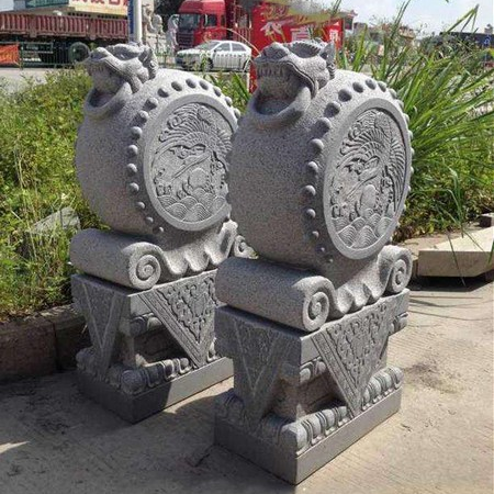 【石雕抱鼓石系列067】抱鼓石雕刻厂
