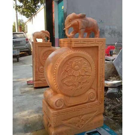 【石雕抱鼓石系列079】抱鼓石雕刻厂